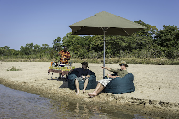 Drinks at Kapamba, South Luangwa National Park