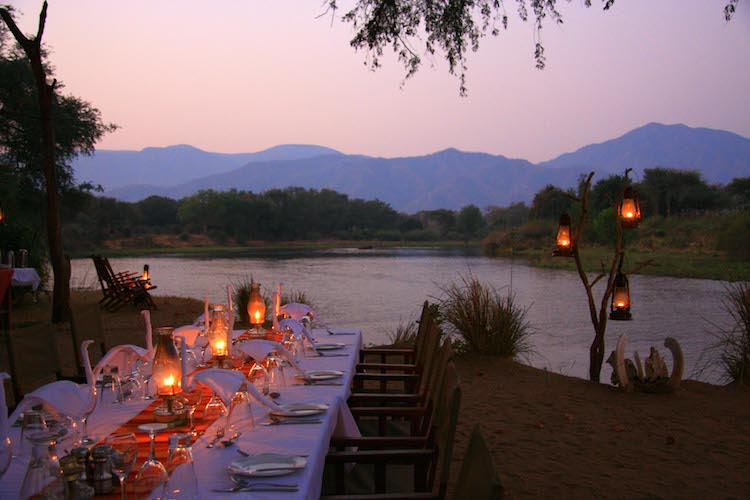 Dining at Chongwe