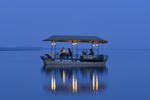Chiawa camp Floating Dinner