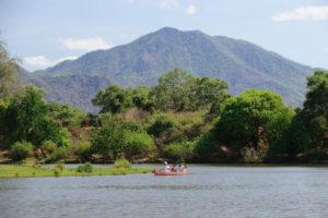Chongwe River House, canoe