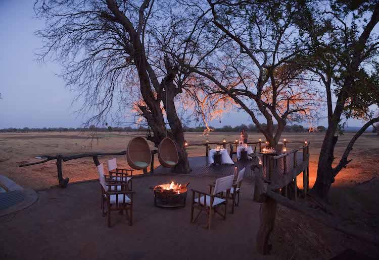 Dining area at Puku Ridge, South Luangwa