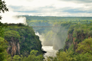 Falls view from victoria falls hotel