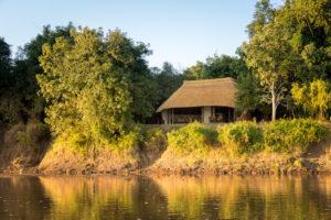 Nkwali bush camp, river view