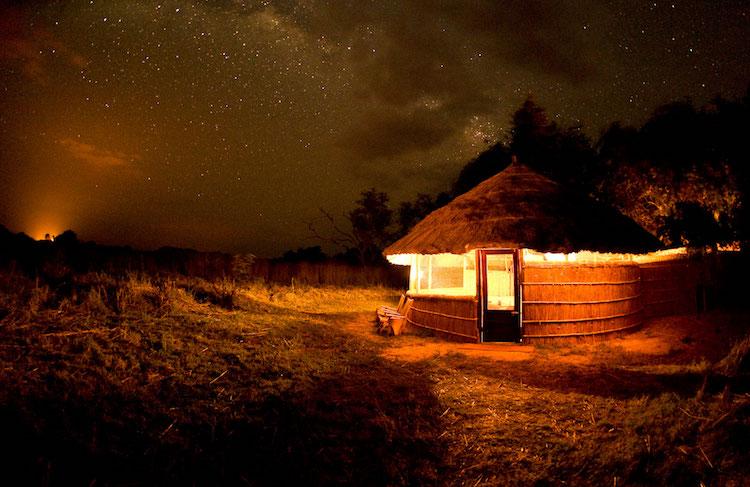 Kuyenda Bush camp at night