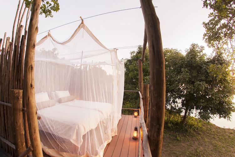 Star bed at Three Rivers Bush Camp