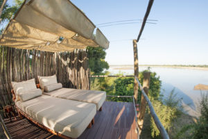 Lounge area, Three Rivers Bush Camp