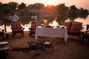 chongwe river camp, breakfast