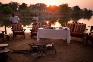 chongwe river camp, breakfast