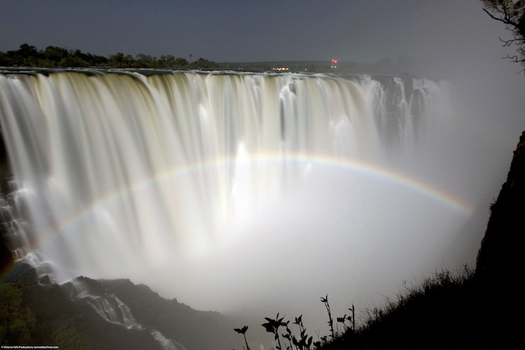 Victoria Falls at night, Zambia