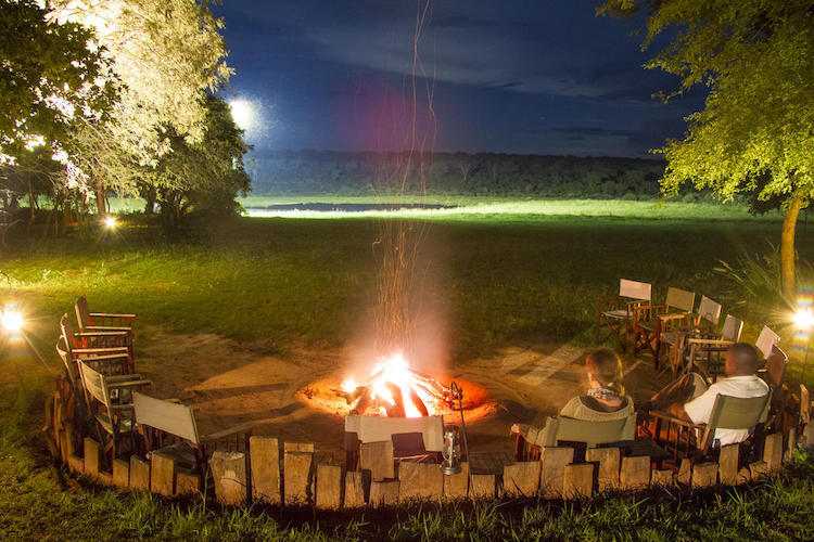 Fire pit at Ivory Lodge