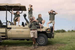 Game drive with the family, hwange