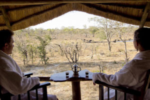 The beauty of this camp is that it combines luxurious and private accommodation with old world hospitality. Khulu overlooks an ancient riverbed, in today's terms called a 'vlei', known to attract a variety of the greatest wildlife and bird life in Hwange National Park, right on your doorstep.