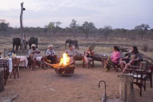 fire pit at Khulu Bush Camp