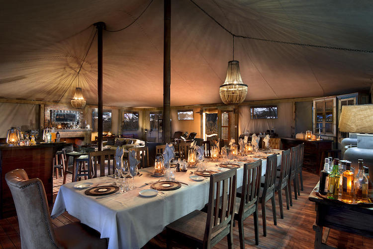 somalisa expeditions dining area