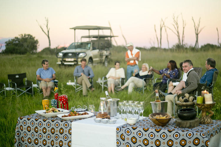sundowner at Hwange national park, Zimbabwe