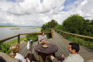 chobe game lodge, deck