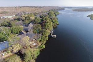 chobe safari lodge, aerial