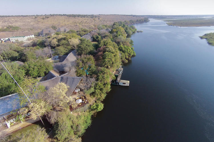 chobe safari lodge, aerial