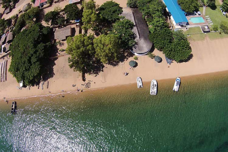 drone view of cape maclear