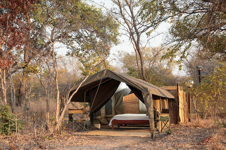 Nkonzi Camp walk-in safari tents