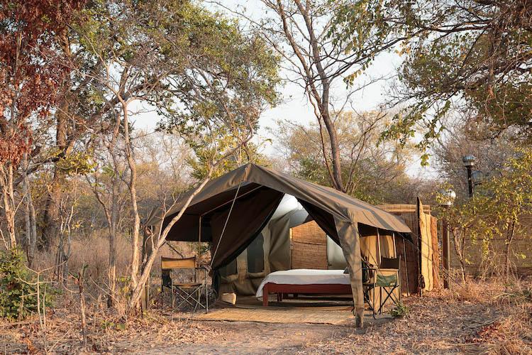 Nkonzi Camp walk-in safari tents